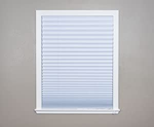 "Original Corded Lift Light Blocking Pleated Fabric Shade White, 36""x 72"""