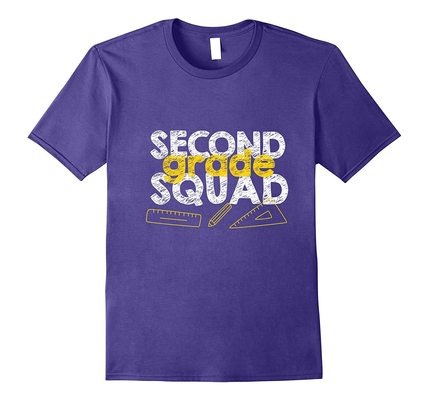 Second Grade Squad T-shirt Student Back To School-Art