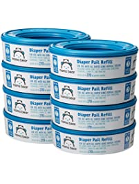Amazon Brand - Mama Bear Diaper Pail Refills for Diaper Genie Pails, 2160 Count (Pack of 8)