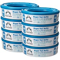 Amazon Brand - Mama Bear Diaper Pail Refills for Diaper Genie Pails, 1 Count (Pack of 8)