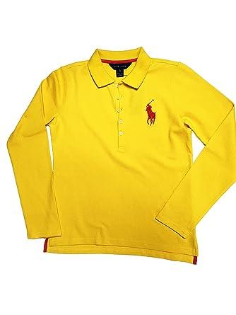 Original Ls Bpp Shirt Polo W Stretch Goldyellow Lauren Ralph Mesh 6y7Yfbg