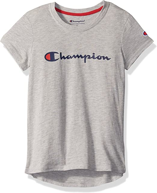 Sports Grey Authentic Short Sleeve Champion sportswear T-Shirt tee logo
