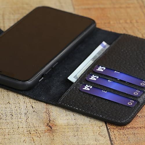 promo code dc555 251ae Amazon.com: iPhone X Handmade Leather Wallet Case with Custom ...