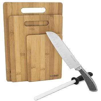Amazon.com: Juego de cuchillos y accesorios de cocina ...