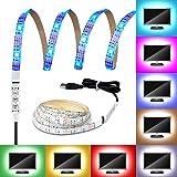 LED Light Strip, G-i-Mall USB Strisce LED Luce di retroilluminazione Impermeabile per Notebook Laptop PC TV Desktop illuminazione backlight Strisce LED Autoadesive, 30 Leds 1M