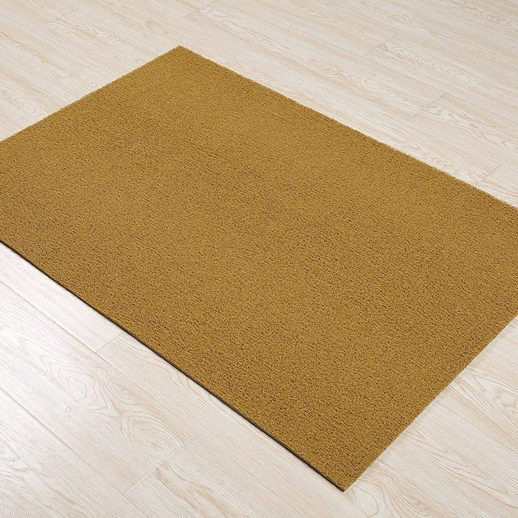 Yellow 120x500Cm(47x197Inch) Doormat Indoor Outdoor, Entrance Channel PVC Non-Slip Backing Floor Mat Cleanable Suitable for Front Doors, Back Doors, Hallways, Kitchens, Offices and Garages-120x180Cm(47x71Inch)-Brown