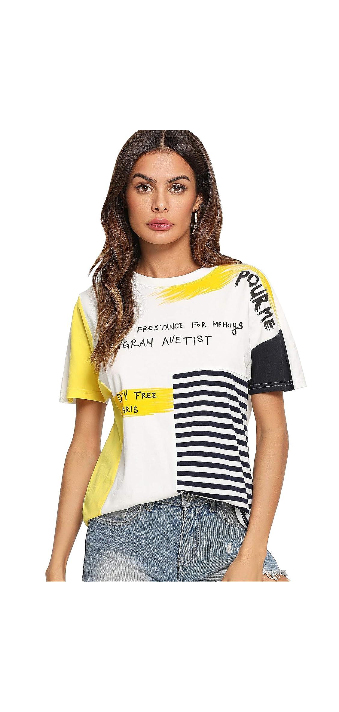 Women's Graphic Cute Short Sleeve Crewneck T-shirt Casual