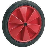 Dörner + Helmer 709186 PVC-wiel rood met glijlager en groefprofiel 185 x 24 x 10 mm naafbreedte 32 mm