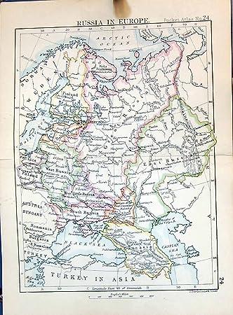 Nordpolarmeer Karte.Nordpolarmeer Kaspisches Meer 1886 Bartholomew Karten Europas