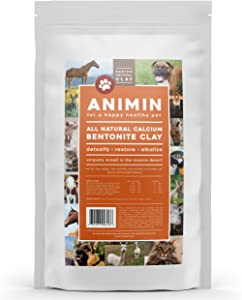 Earth's Living Animin Calcium Bentonite Clay for Pets   Alkalizing Detox Powder Relieves Arthritis, Diarrhea etc   Cleanses Toxins, Parasites, Bacteria   Supports Digestive and Immune System