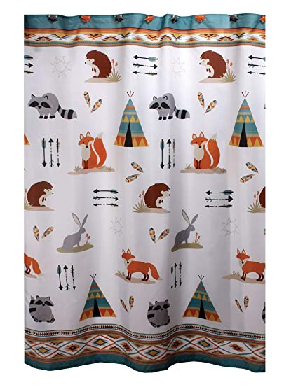 Amazon Mainstays Kids Woodland Critter Shower Curtain Fox