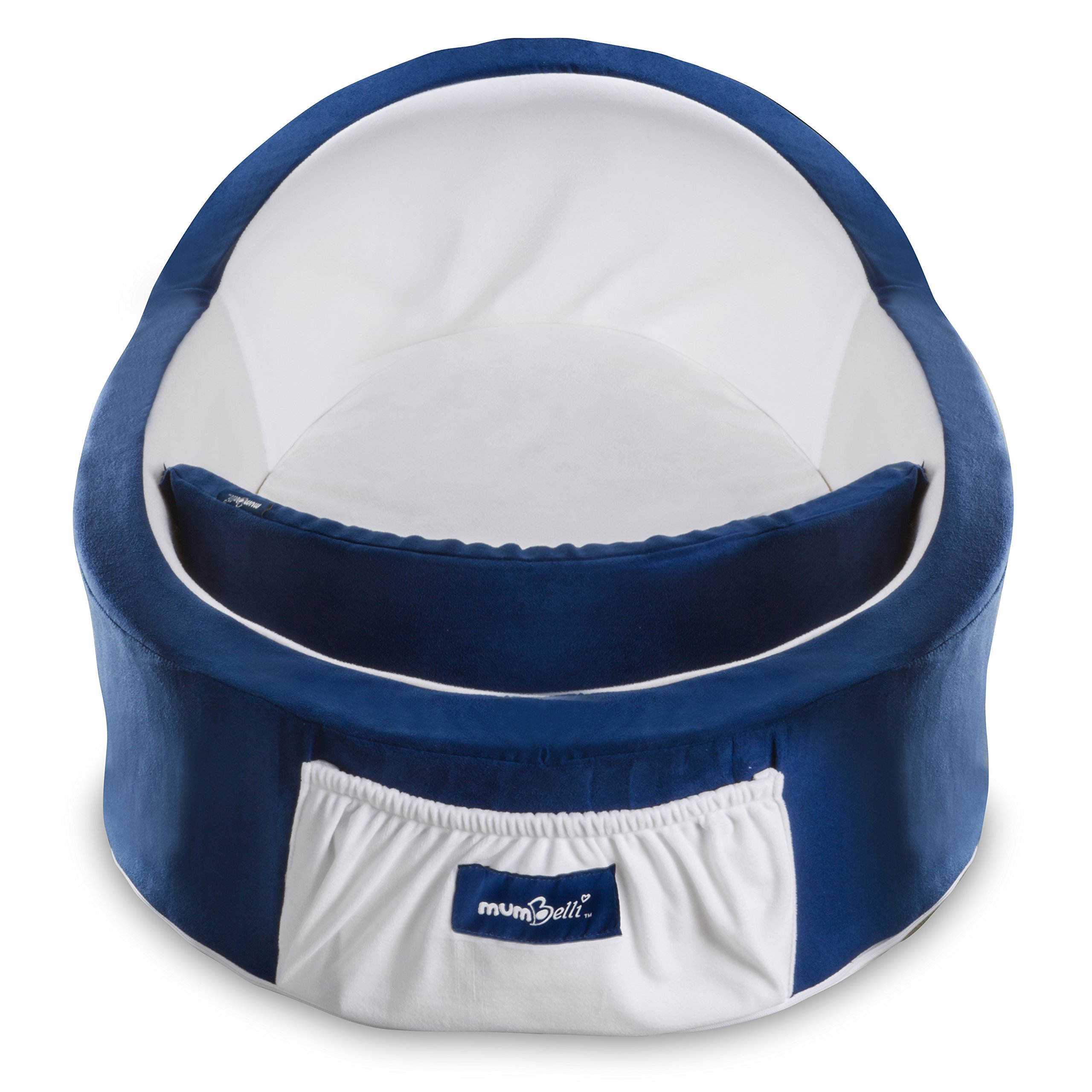 Mumbelli – The only Womb-Like and Adjustable Infant Bed; Patented Design (Nautical). Use as a Sleep transitioner, Lounger and co Sleeping. Reflux Wedge and Carry Bag Included. by Mumbelli (Image #2)