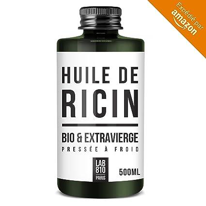 Aceite de ricino ecológico 100% puro y naturalPrensado en frío, extra virgen, acelera