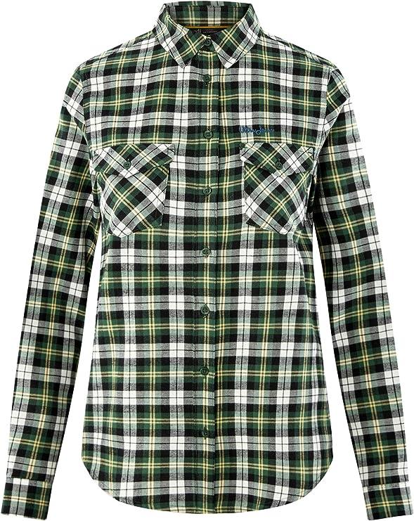 oodji Ultra Mujer Camisa a Cuadros con Bolsillos en el Pecho, Verde, ES 44 / XL: Amazon.es: Ropa y accesorios