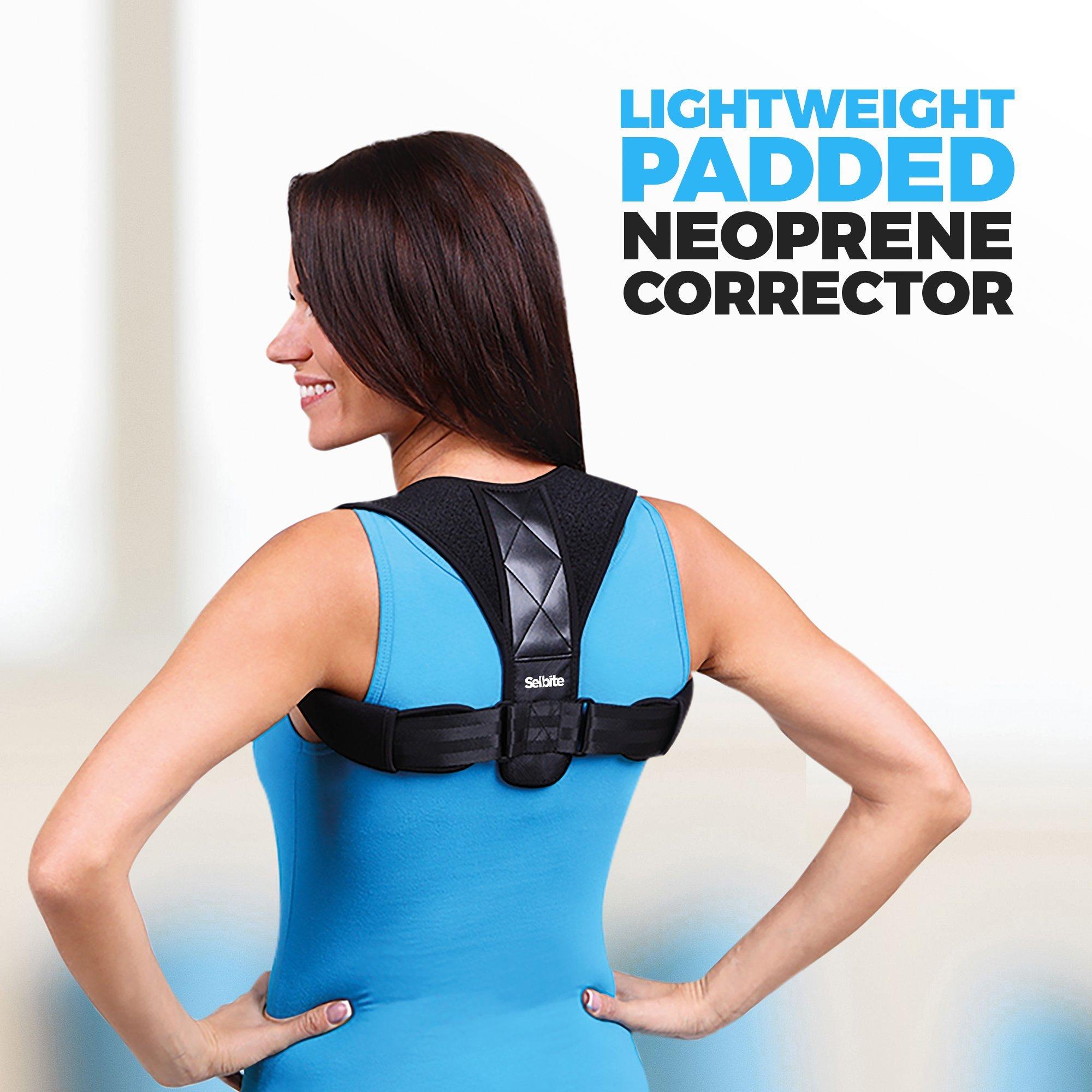Back Posture Corrector for Men Women - Effective Posture Corrector Upper Back Straightener - Adjustable Posture Brace - Back Brace - Lightweight and Comfortable for Improving Posture by Selbite (Image #6)