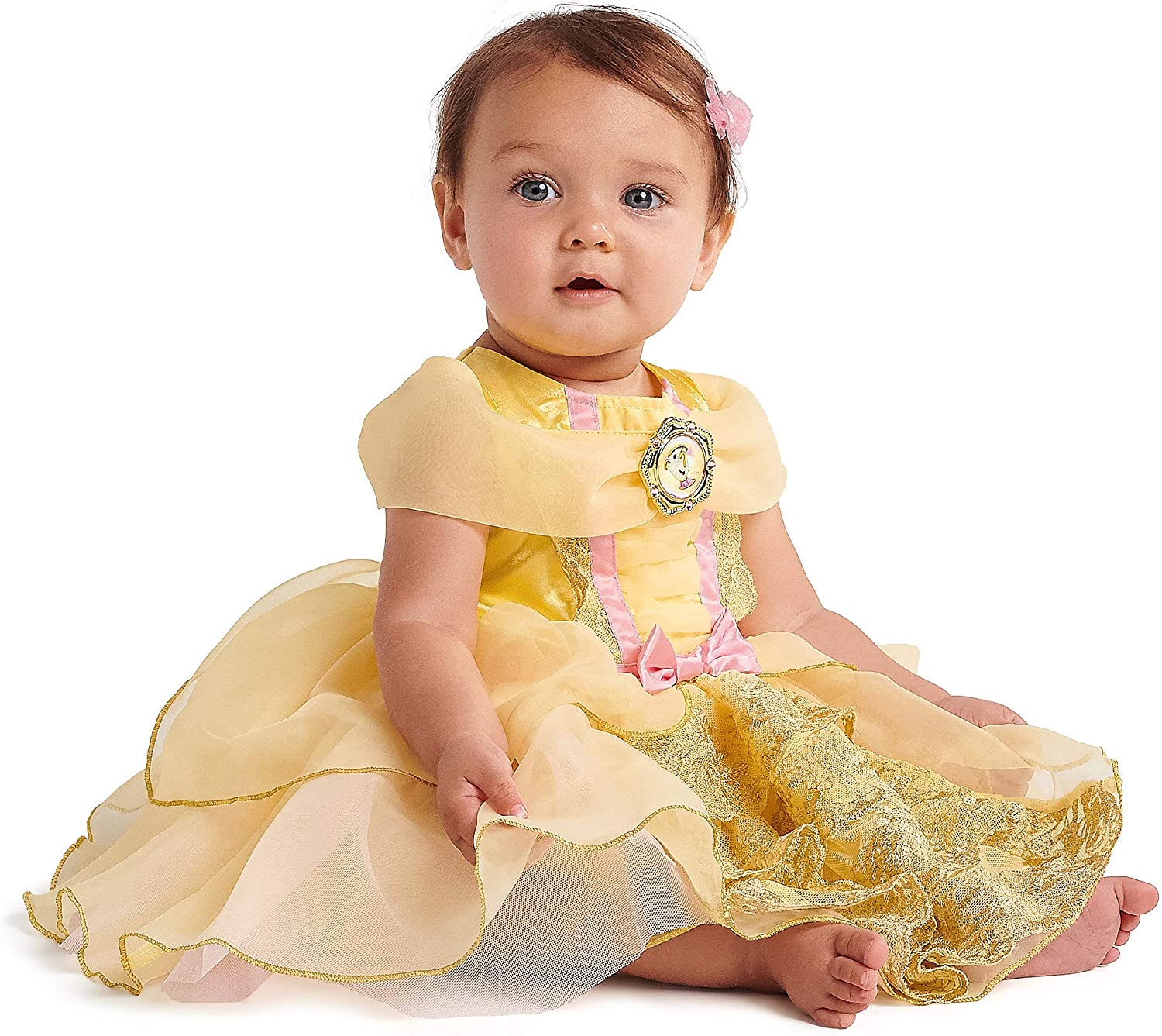 Toddlers Yellow and Pink Beauty /&The Beast //Belle Babies Girls Headband