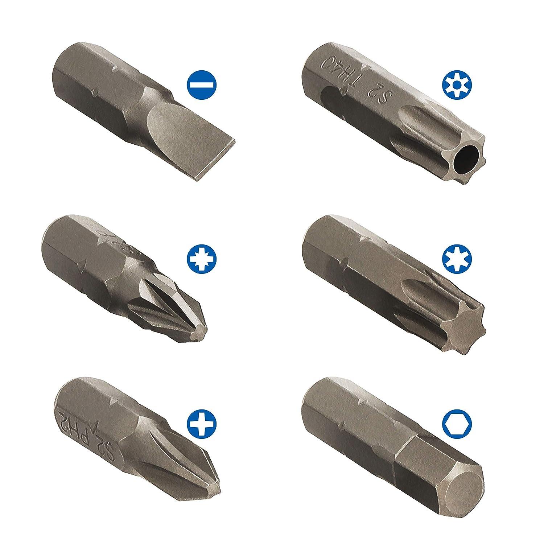 S/&R Bit Set 57-teilig mit Bithalter in Handlicher Box Schlagschrauber und Bohrmaschine Schrauber Bit Set f/ür Akku-