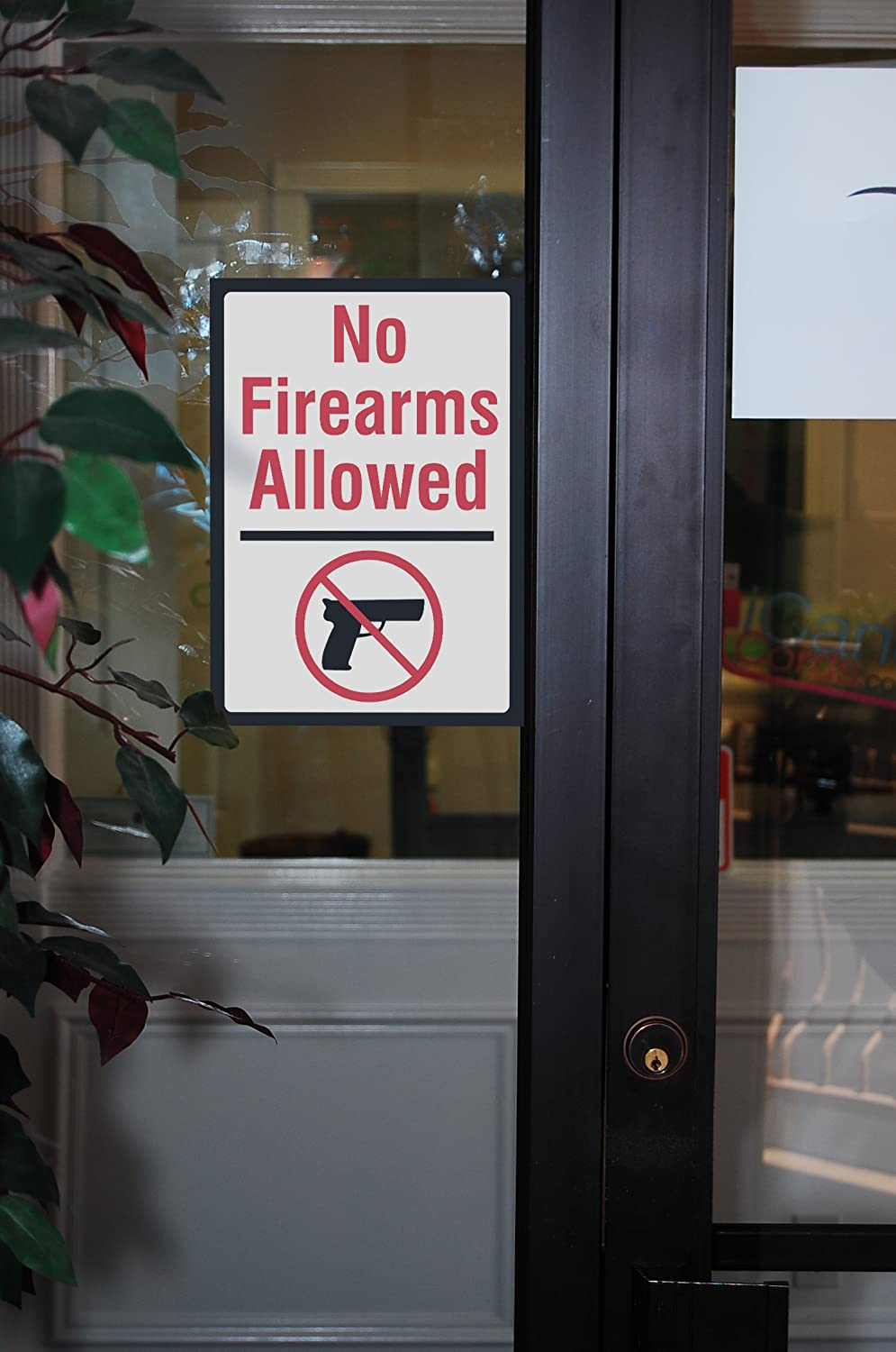 No Firearms Allowed Sign 12x18 Aluminum Metal 6 Pack Large Firearm Safety Signs No Guns