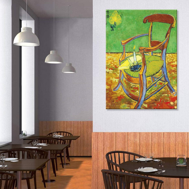 Tele Intelaiate Stampa Su Su Vetro Acrilico Plexiglass Vincent Van Gogh Giallobus Quadro La Sedia Di Gauguin Pronto Da Appendere 50x70 Cm Vari Formati Casa E Cucina