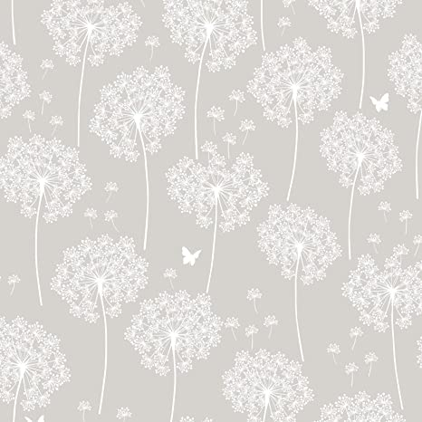Wall Pops Nu1651 Dandelion Gray Peel And Stick Wallpaper Amazon Com