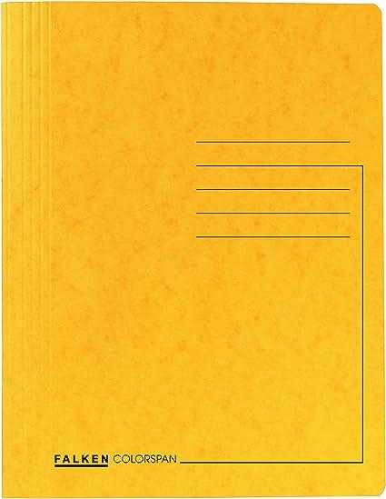 DIN A4 gelb aus PP-Folie//extra stark Idena Schnellhefter