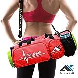 حقيبة اليوجا من أمازيكس لحقيبة اللياقة البدنية متعددة الوظائف مع أطراف مفتوحة 5 جيوب حامل زجاجة بلونين من