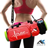 AmazeX Yoga Bag Yoga Mat Bag Fitness Bag Multifunctional Gym Bag with Open Ends 5 Pockets Bottle Holder in 2 Colors from