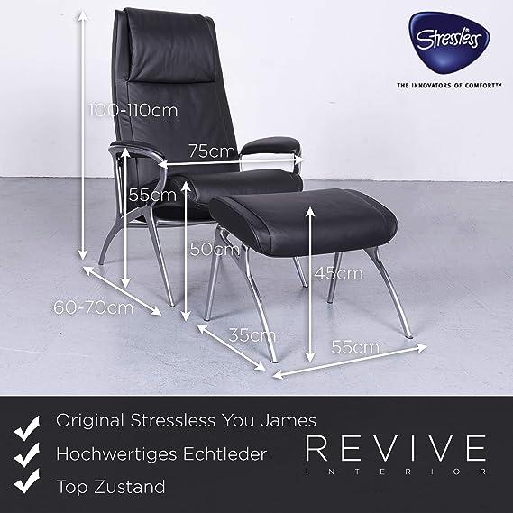 Stressless You James Designer Leder Sessel Schwarz Echtleder ...
