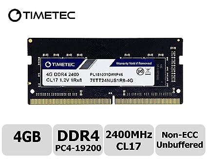 Timetec Hynix IC 4GB DDR4 SODIMM for Intel NUC KIT Products Mini PC/HTPC  2400MHz PC4-19200 Non ECC Unbuffered 1 2V CL17 1Rx8 Single Rank 260 Pin
