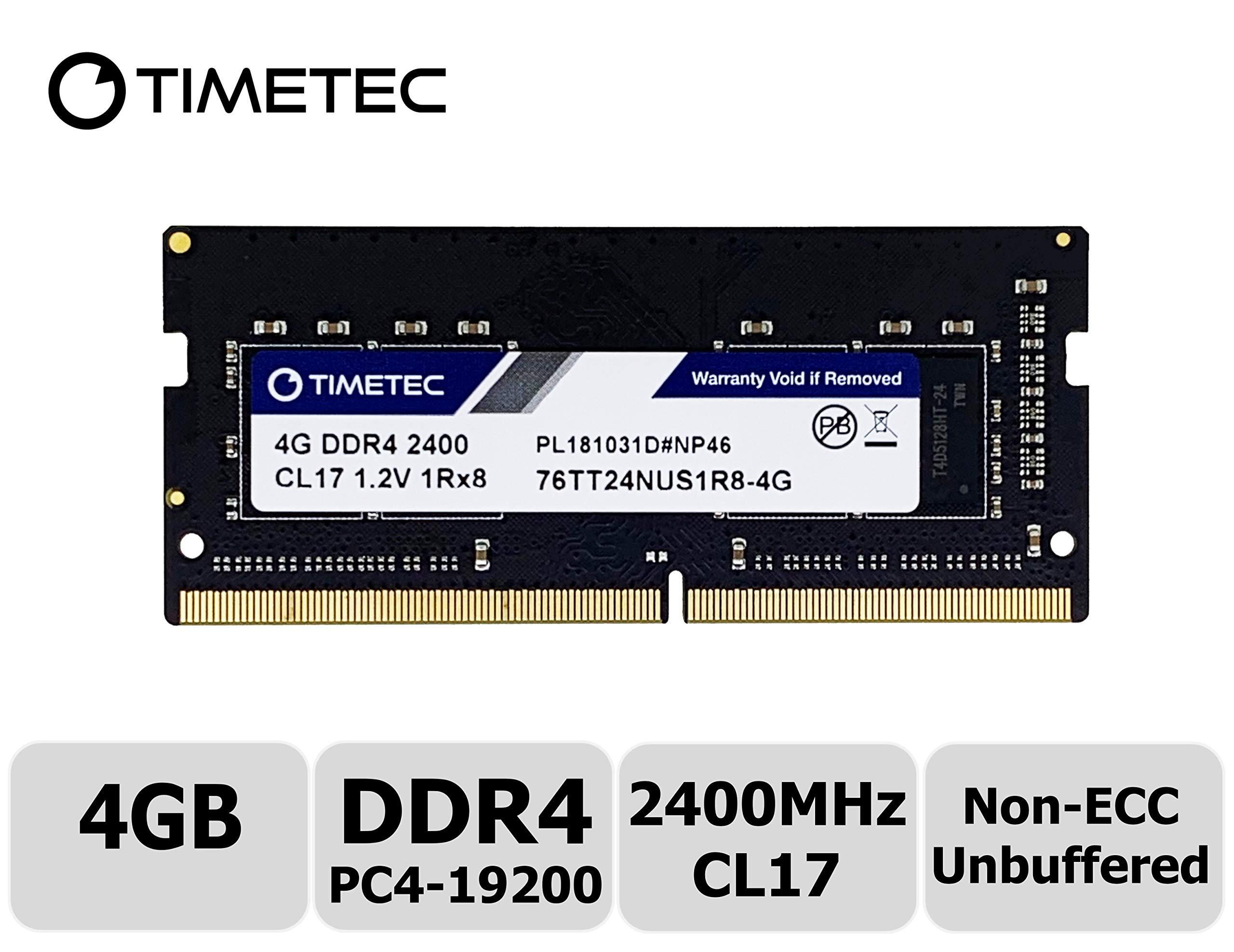 Memoria RAM 4GB Timetec Hynix IC DDR4 SODIMM para Intel NUC KIT/Mini PC/HTPC/NUC Board 2400MHz PC4-19200 Non ECC Unbuffe