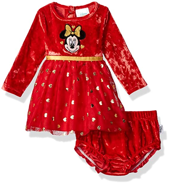ac10abe6ce326 Disney Baby Girls' Minnie Mouse Tutu Dress and Diaper Cover Set, Chinese  Red,