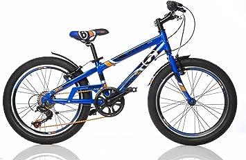 Bicicleta Niño 20 Pulgadas Dino Bikes Fast Boy Freno Delantero y Trasera al Manillar Cambio 6 Velocidades Azul: Amazon.es: Deportes y aire libre