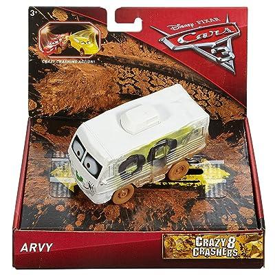 Disney Pixar Cars 3 Crazy 8 Crashers Arvy Vehicle, 1:55 Scale: Toys & Games