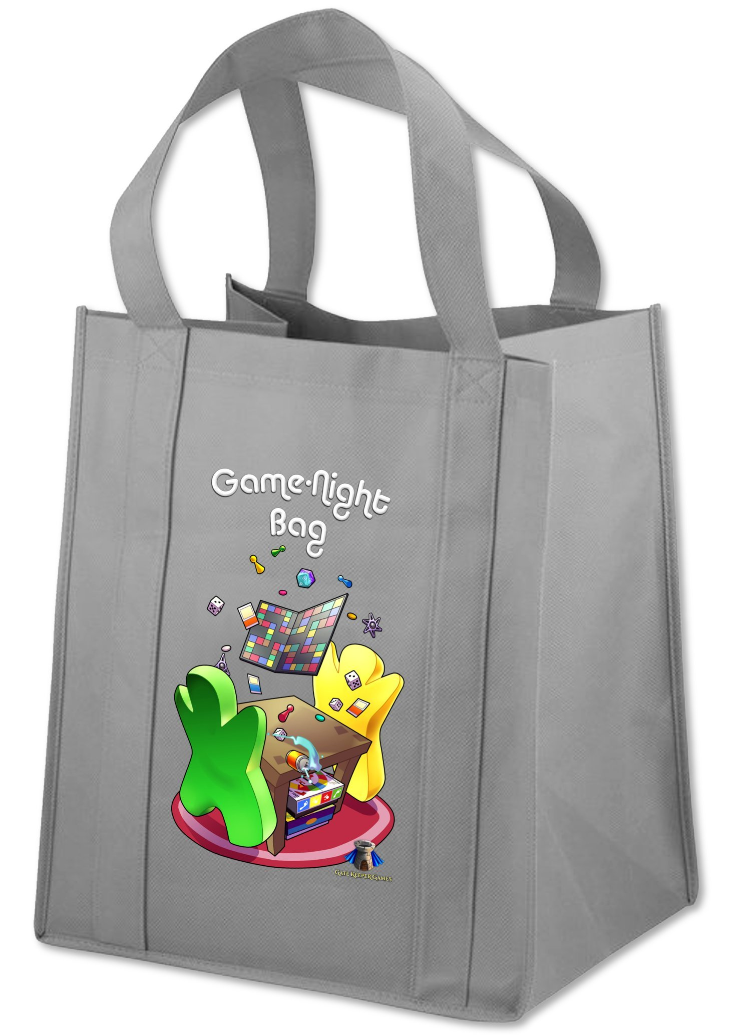 Game Night Bag ''The Classic'' - 15x13x10'' Tote Bag w/ Reinforced Base & Handles - Carries up to 40lbs
