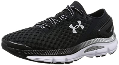 competitive price caa67 2749f Under Armour Men s Speedform Gemini 2 Running Shoe Black White Metallic  Silver 7.5 D