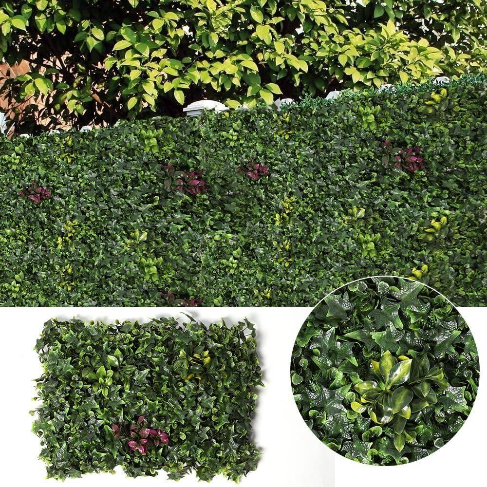 Valla de privacidad artificial de hojas de hiedra para pared o jardín, de JUSTOYOU, 40 x 60 cm, Ivy Hedge B: Amazon.es: Jardín