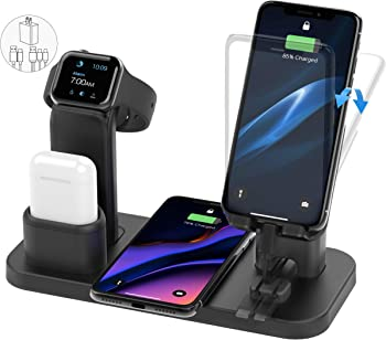 CEREECOO 4 in 1 Wireless Charging Station Dock Compatible