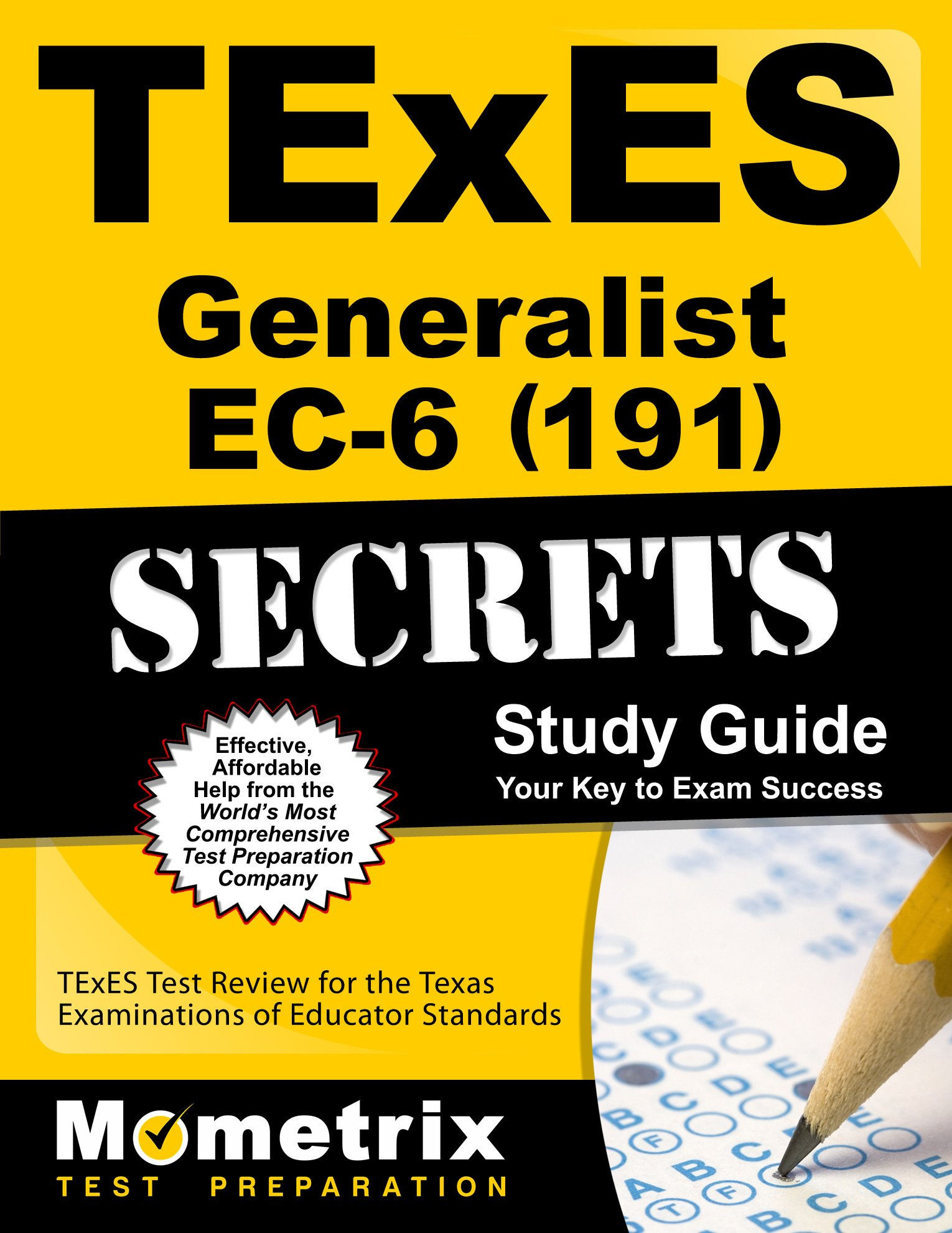 Buy Texes 191 Generalist Ec 6 Exam Secrets Study Guide Texes Test