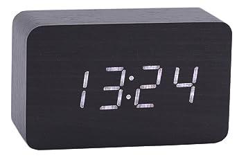 Home & Garden Home Decor Wooden Led Digital Alarm Clock Usb & Battery Temperature Sounds Control Clock Modern Led Display Desktop Digital Table Clocks