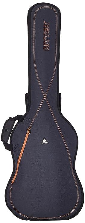 Ritter RGS3-B BAJO - Funda/estuche para guitarra electrica-bajo, logo reflectante, color gris oscuro