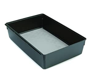 Rubbermaid No-Slip Interlocking Drawer Organizer, 6-in. x 9-in, Black with Gray Base (1994534)