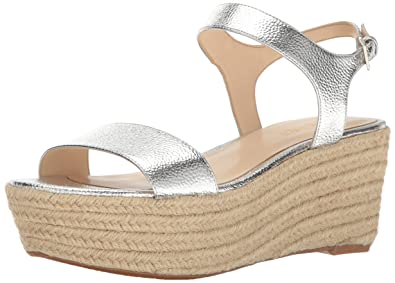 1476b5025 Amazon.com | Nine West Women's Flownder Metallic Wedge Sandal ...