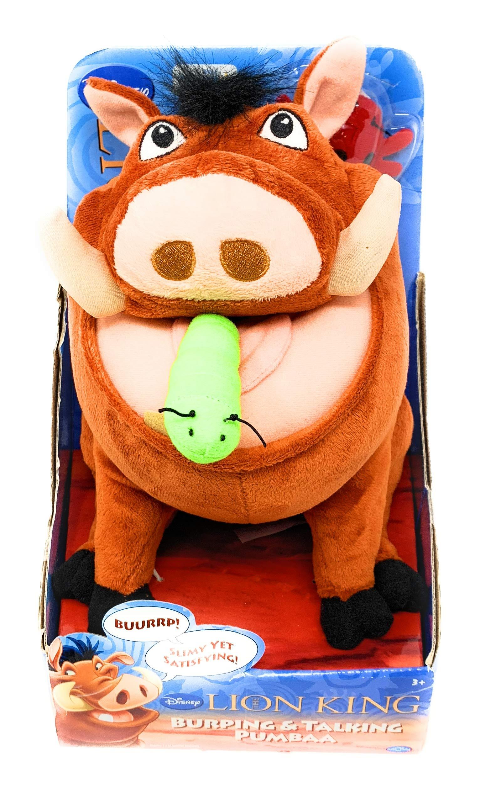Disney Lion King Exclusive Plush Figure Burping Talking Pumbaa