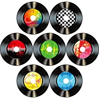 Boao 35 Pieces 7 Inch 1950's Rock and Roll Music Party Decorations Records Wall Decor Signs for 50's Theme Party…