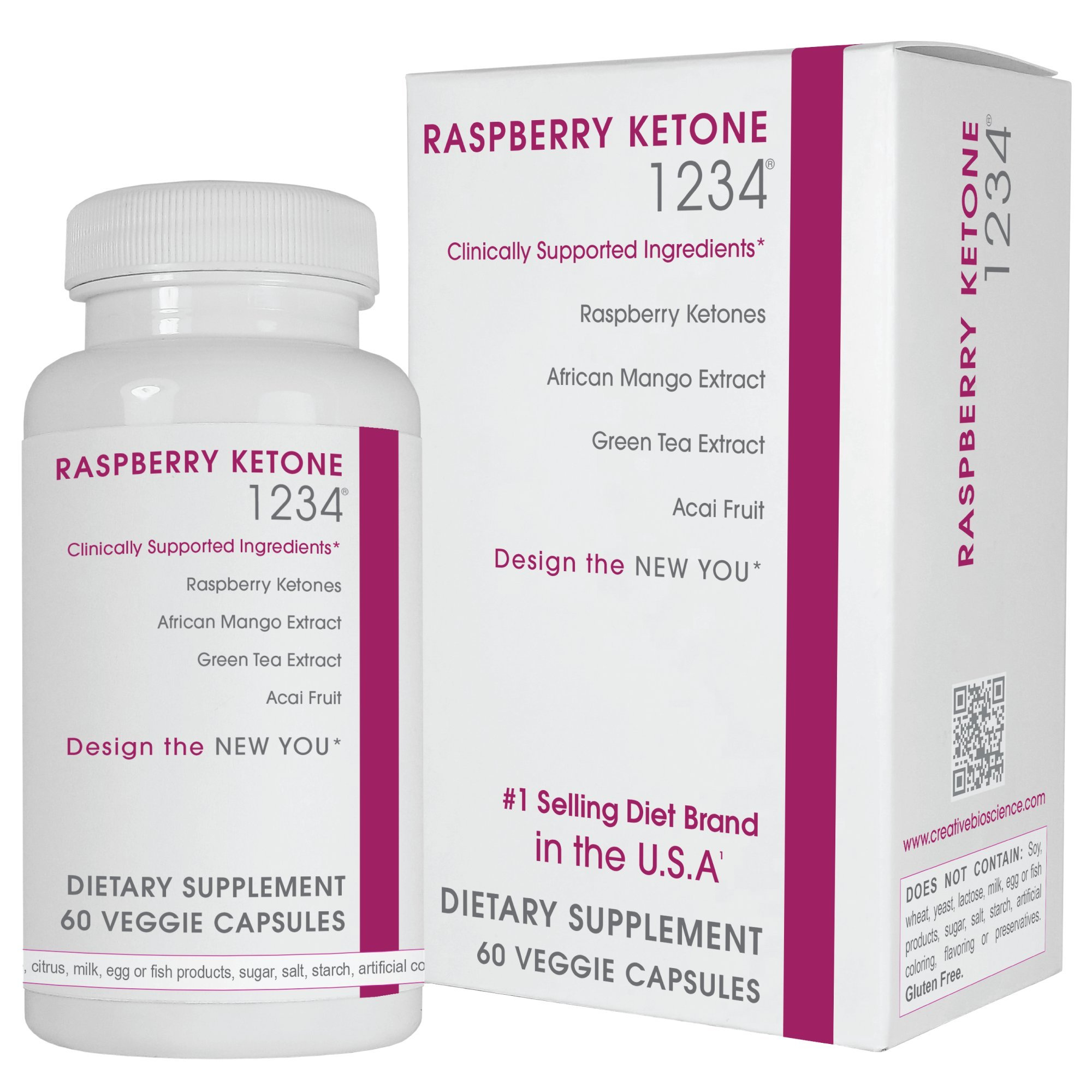 Creative Bioscience Raspberry Ketone 1234, 60 Count by Creative Bioscience