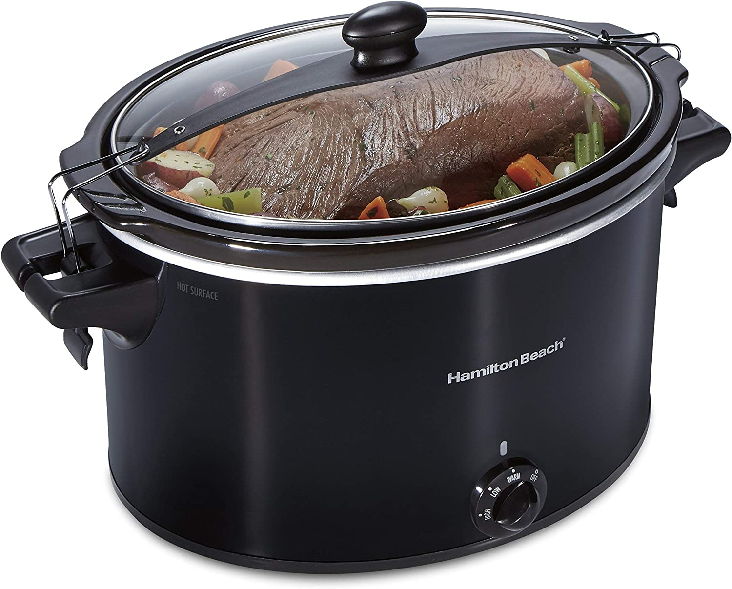 Hamilton Beach 33195 Extra-Large Stay or Go Slow Cooker, 10 Quart Capacity, Black (Renewed)