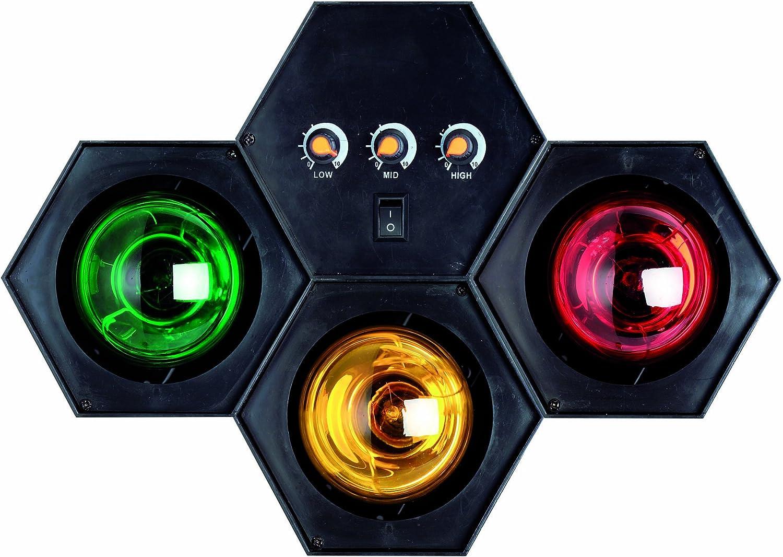 TIP 3767 Party Sound /& Light Tower 3x40W E27 schwarz 230V