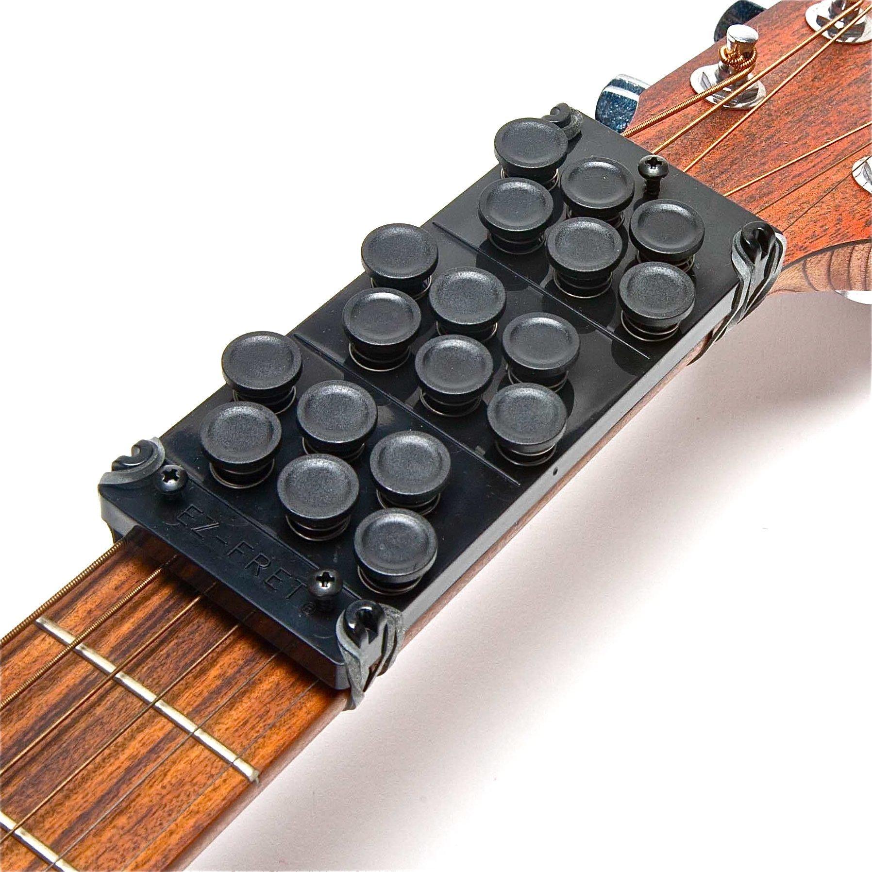 Ez-Fret Guitar Attachment, Eliminates Finger Pain, 110 Chords Available, Fits Full Sized Acoustic Guitar, L/H OK by Ez-Fret