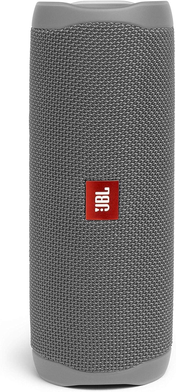 JBL Flip 5 - Altavoz inalámbrico portátil con Bluetooth, speaker resistente al agua (IPX7), JBL PartyBoost, hasta 12h de reproducción con sonido de calidad, gris