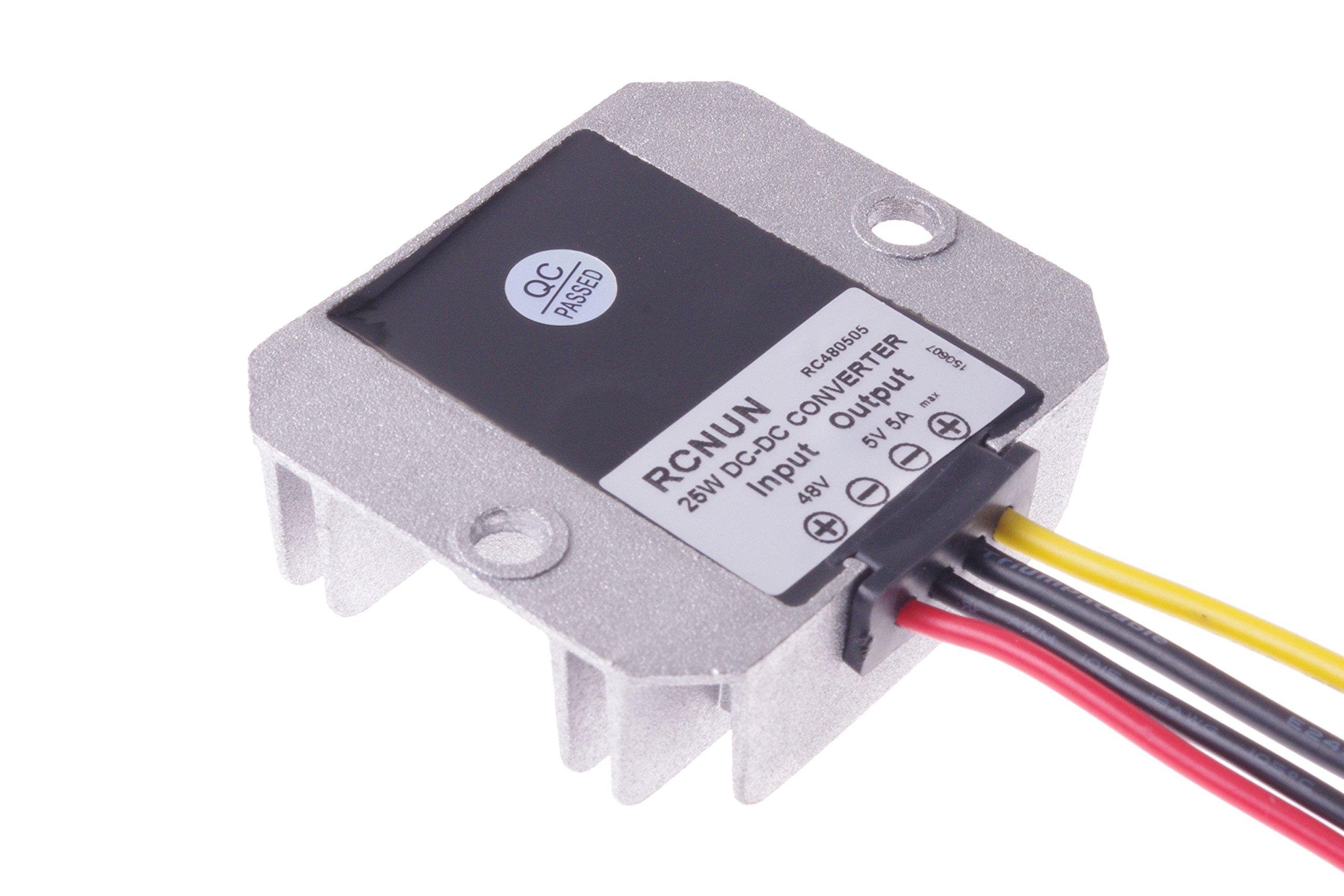 SMAKN® DC-DC Voltage Step-Down Converter Buck Module 12V/24V/36V/48V to 5V 5A 25W Car LED power converter Waterproof by SMAKN (Image #6)